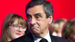 François Fillon, en meeting à Compiègne, le 15 février 2017. (CITIZENSIDE/YANN BOHAC / CITIZENSIDE)