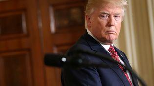 Donald Trump durant une conférence à la Maison Blanche, à Washington (Etats-Unis), le 10 février 2017. (JOSHUA ROBERTS / REUTERS)