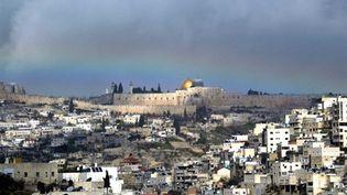 La vieille vue de Jérusalem vue de loin, avec, au centre, l'esplanade des Mosquées (AFP - Atta OWEISAT)