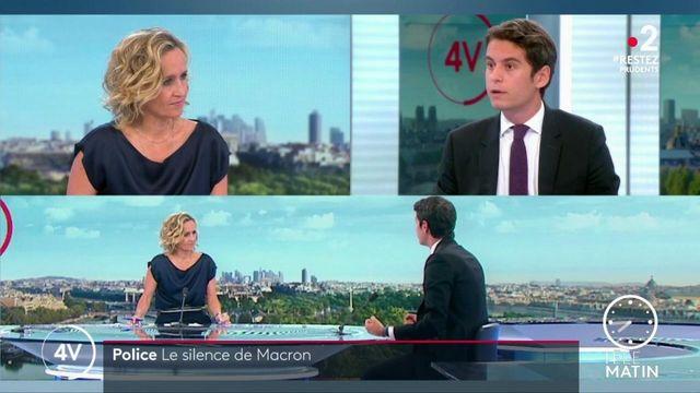 """Violences policières: """"Ces faits ne résument pas la police"""", affirme Gabriel Attal"""
