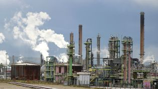 La raffinerie Petroplus de Petit-Couronne (Seine-Maritime), le 5 novembre 2012. (CHARLY TRIBALLEAU / AFP)