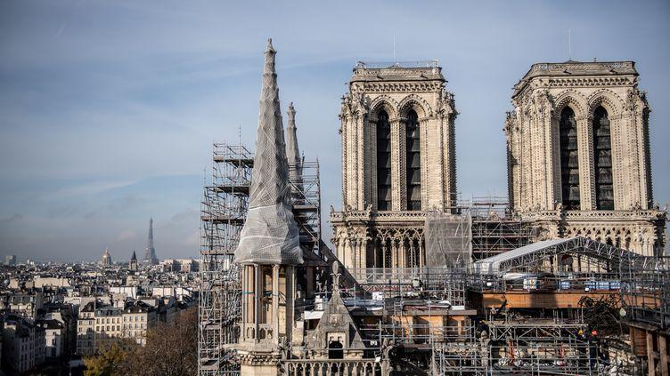La cathédraleNotre-Dame de Paris, le 24 novembre 2020. (MARTIN BUREAU / AFP)