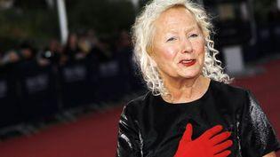 La créatrice de mode Agnès B. sur le tapis rouge de Deauville le 6 septembre 2012  (CHARLY TRIBALLEAU / AFP)