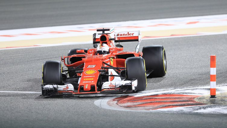 Le pilote allemand Sebastian Vettel (Ferrari). (AYMAN YAQOOB / ANADOLU AGENCY)