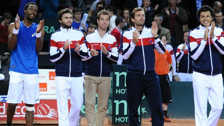 L'équipe de France de Coupe Davis.