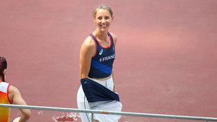La présidente du comité paralympique et sportif français,Marie-Amélie Le Fur, a accroché l'argent pour ces derniers Jeux paralympiques, à Tokyo, le 28 août 2021. (NGUYEN TUAN /  CPSF)