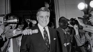 Robert Boulin à Rambouillet (Yvelines), en juillet 1972. (AFP)