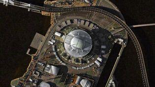 LestadedeSaint-Pétersbourg, égalementappeléstadeKrestovski,a une capacité de 67 000 places. (DEIMOS IMAGING / URTHECAST)