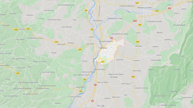 La ville de Valence, dans la Drôme. (CAPTURE ECRAN GOOGLE MAPS)