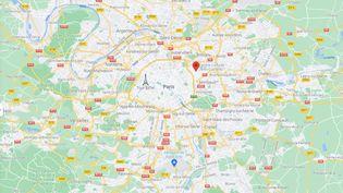 Le drame a eu lieu aux Lilas, en Seine-Saint-Denis, le 20 septembre 2021. (GOOGLE MAPS)
