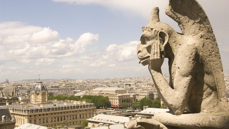Une gargouille sur le toit de Notre-Dame, à Paris. (CHASE JARVIS / GETTY IMAGES)