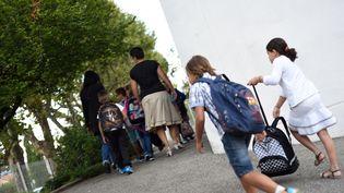 Rentrée des classes à Valence, le 1er septembre 2015. (CHRISTOPHE ESTASSY / CITIZENSIDE.COM / AFP)