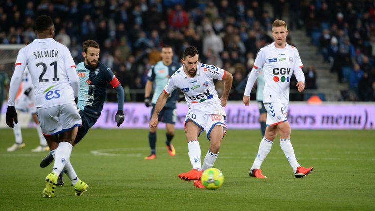 Strasbourg n'est pas encore assuré de remonter en Ligue 1 (EMMANUEL LELAIDIER / MAXPPP)