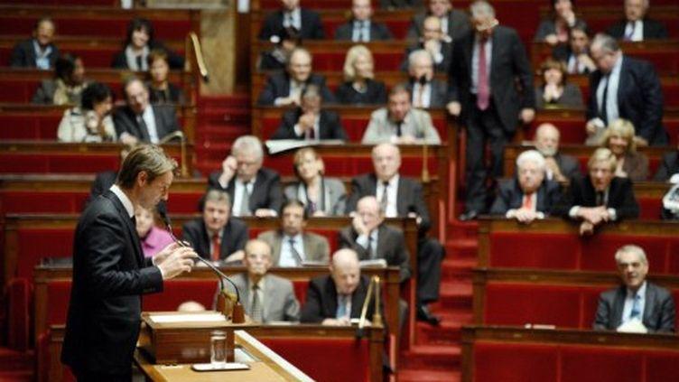 Francois Baroin intervient lors de la séance des questions au gouvernement à l'Assemblée nationale (Paris), le 9 novembre 2011. (AFP - Martine Bureau)