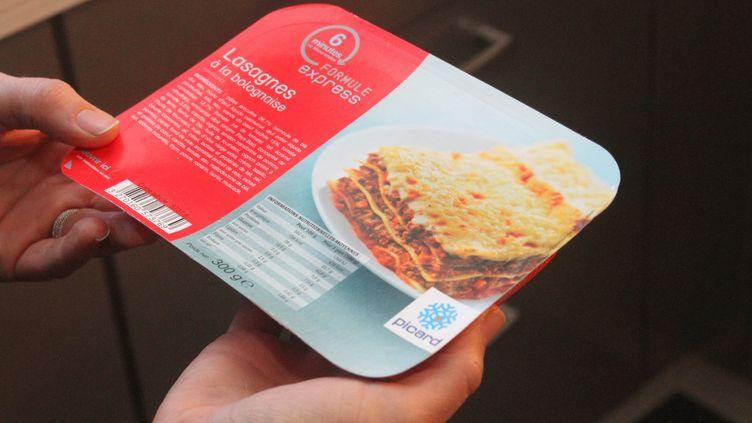 Après le scandale de la viande de cheval découverte dans des lasagnesFindus, Picard a également retiré certains de ses plats des rayons. (JEAN-FRANÇOIS FREY / MAXPPP)