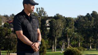 Le golfeur Tiger Woods à Pacific Palisades en Californie, le 21 février 2021. (HARRY HOW / GETTY IMAGES NORTH AMERICA)