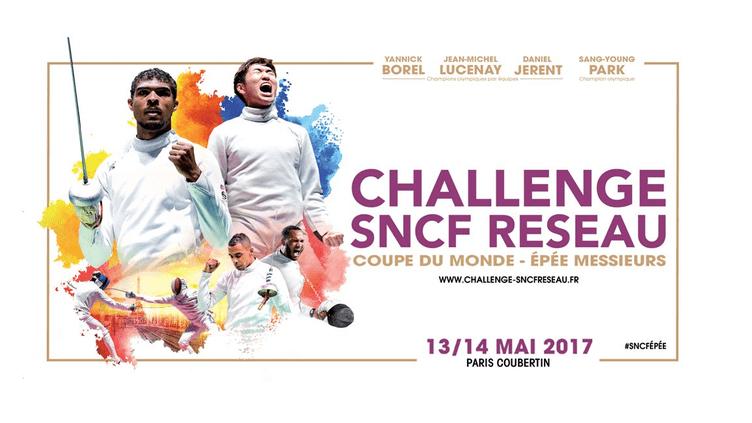 Affiche du Challenge SNCF Réseau 2017 (Fédération Française d'Escrime)
