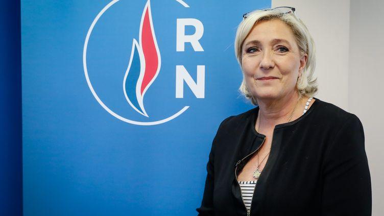 La présidente du Rassemblement national à Nanterre, le 14 juin 2018. (MAXPPP)