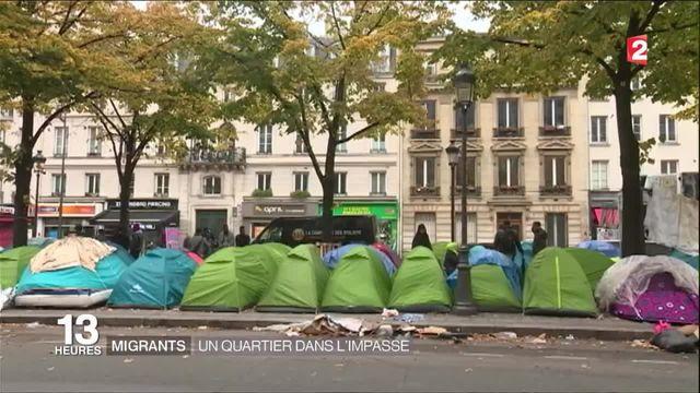 Migrants : un camp en plein Paris
