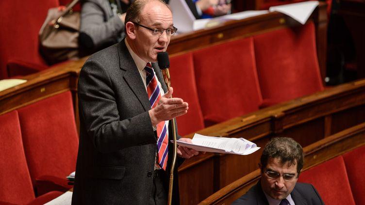 Le député UMP Daniel Fasquelle le 1er février 2013 à l'Assemblée nationale. C'est lui qui est à l'origine de la proposition d'alliance civile. (MAXPPP)