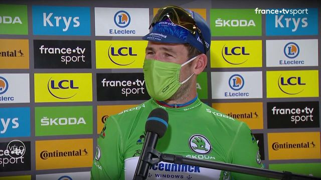 Auteur d'un nouveau gros sprint, Mark Cavendish a remporté sa quatrième étape sur ce Tour de France. Avec 34 victoires sur la course, le Britannique revient à hauteur d'Eddy Merckx mais le sprinteur estime que le Belge est encore loin devant lui.