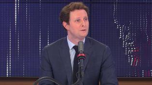 Clément Beaune, secrétaire d'Etat chargé des Affaires européennes, lundi 15 février 2021 sur franceinfo. (FRANCEINFO / RADIO FRANCE)