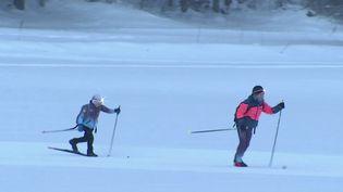 Des écoliers du Doubs vont à l'école en skis. (CAPTURE D'ÉCRAN FRANCE 3)