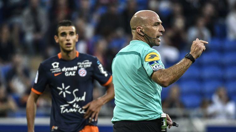 L'arbitre de Lyon - Montpellier, Bartolomeu Varela  (JEFF PACHOUD / AFP)