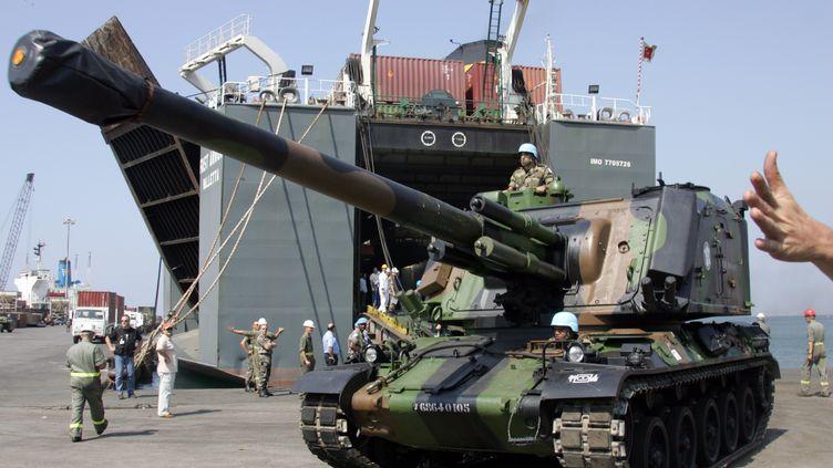 Ce type de char, un AMX 30, pris en photo le 12 septembre 2006, pouvait, pendant la guerre du Golfe, tirer des obus-flèches à uranium appauvri, suspectés d'avoir contaminé des soldats. (DOMINIQUE FAGET / AFP)
