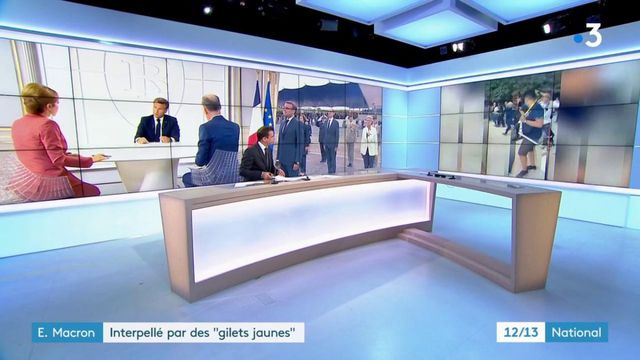 """14 juillet : Emmanuel Macron chahuté par des """"gilets jaunes"""" lors d'une balade"""