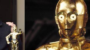 """L'acteurAnthony Daniels, interprète du robot doréC-3PO dans la saga """"Star Wars"""", de George Lucas, Tokyo, 12 décembre 2019 (Lucas Film / Archives du 7eme Art / Photo12 / AFP)"""