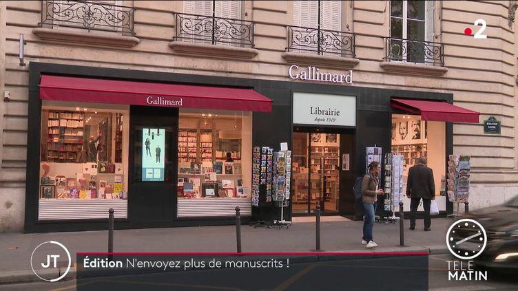 La librairie Gallimard à Paris. (France 2)