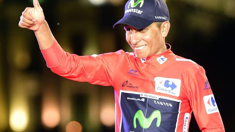 Le cycliste colombien Nairo Quintana (JOSE JORDAN / AFP)