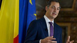 Alexander De Croo lors d'une conférence de presse à Bruxelles (Belgique), le 30 septembre 2020. (DIRK WAEM / BELGA MAG / AFP)