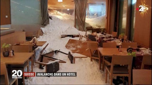 Suisse : une avalanche finit sa course dans un hôtel