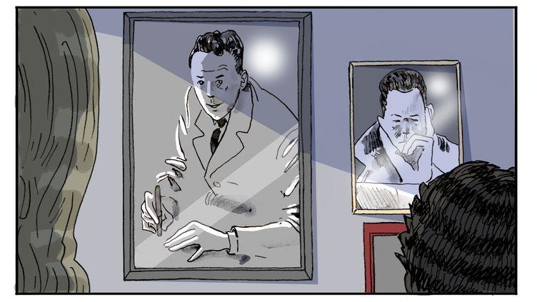 """Chapitre 16, """"L'ombre de Camus"""", illustration de Luc Desportes (LUC DESPORTES)"""