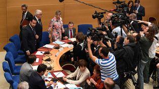Alexandre Benalla lors de sa convocation devant la commission d'enquête du Sénat, mercredi 19 septembre 2018 à Paris. (ALAIN JOCARD / AFP)