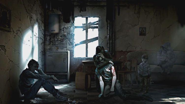 Artwork du jeu This War of Mine du studio 11 bits, qui décrit la vie de civils pris au cœur d'un conflit. (This War of Mine - 11 Bits)