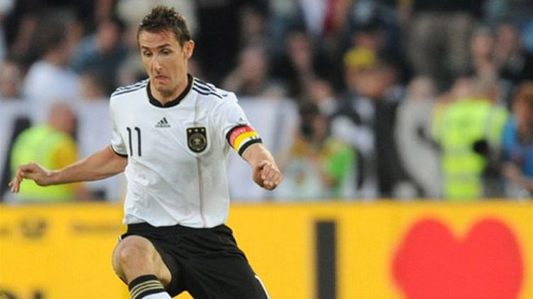 Le buteur allemand Miroslav Klose
