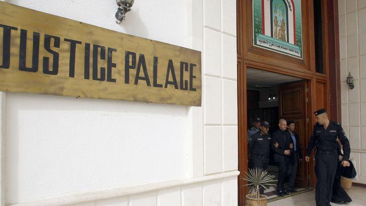 L'entrée du palais de justice de Bagdad (Irak), le 20 février 2011. (SABAH ARAR / AFP)