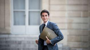 Le porte-parole du gouvernement, Gabriel Attal, le 19 juillet 2021. (ARTHUR NICHOLAS ORCHARD / HANS LUCAS / AFP)