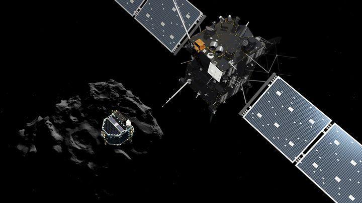 (La séparation de Philae et Rosetta s'est faite sans encombres © ESA)