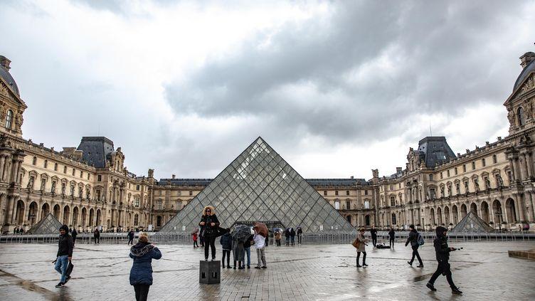 Le Louvre le 2 mars 2020. (CHRISTOPHE MORIN / MAXPPP)
