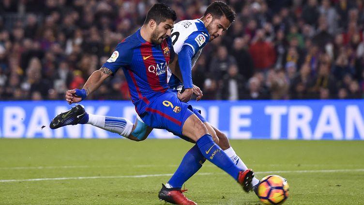 Luis Suarez, buteur contre l'Espanyol