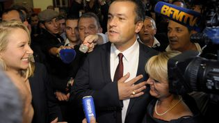 Le conseiller général FN, Laurent Lopez, le 13 octobre 2013 à Brignoles (Var). (FRANCK PENNANT / AFP)