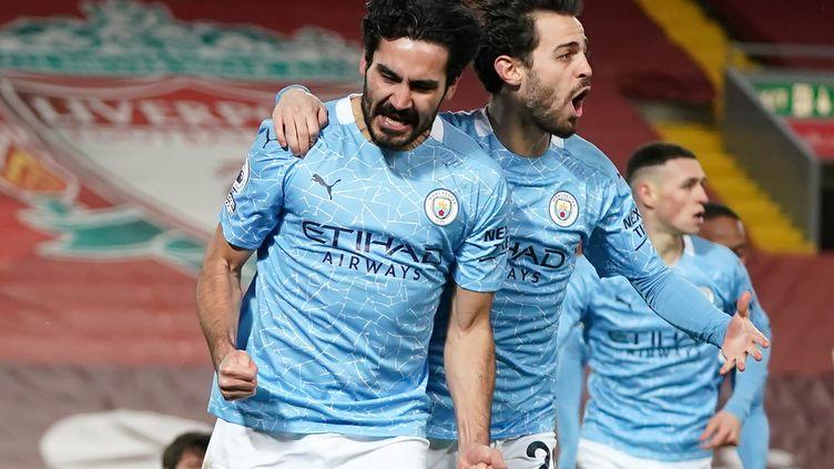 Double buteur à Anfield contre Liverpool dimanche 7 février, Ilkay Gundogan est devenu un serial marqueur depuis mi-décembre. (JON SUPER / POOL)