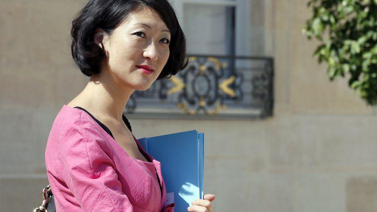 La ministre déléguée aux PME et à l'Economique numérique, Fleur Pellerin, à Paris, le 18 juillet 2012. (PATRICK KOVARIK / AFP)