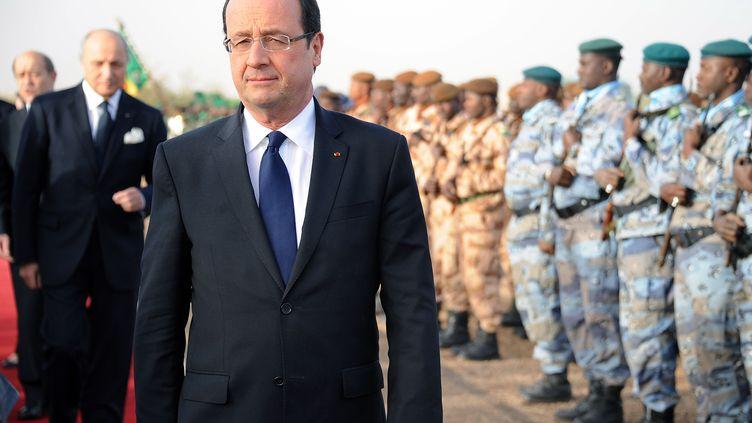 François Hollande, lors de son arrivée au Mali, le 2 février 2013. (PASCAL GUYOT / AFP)