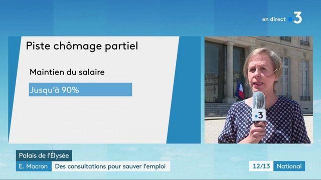 Emmanuel Macron : des consultations avec les partenaires sociaux pour sauver l'emploi
