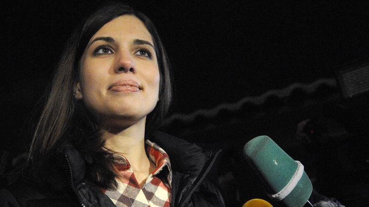 Nadejda Tolokonnikova, membre du groupe Pussy Riot, à sa sortie de prison, lundi 23 décembre, àKrasnoïarsk (Russie). (RIA NOVOSTI / AFP)